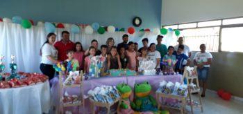 A Secretaria Municipal de Assistência social promoveu a comemoração do dia das crianças.